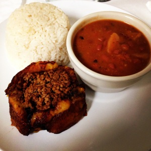 pionono, red beans and rice