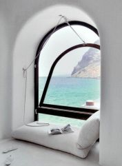 reading nook, santorini greece